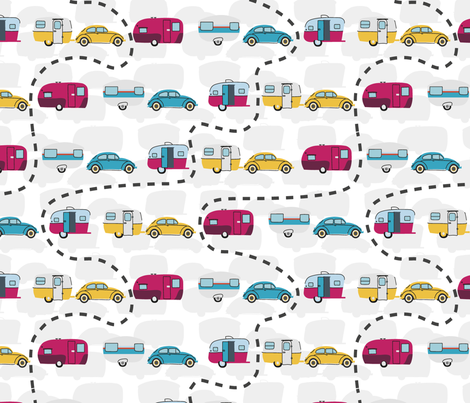TravelCampers fabric by mimikodesigns on Spoonflower - custom fabric