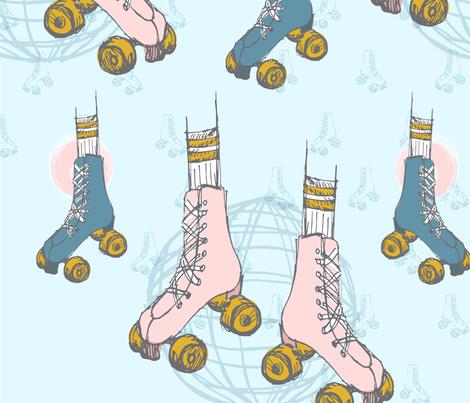 Groovy wheels fabric by lf_hello on Spoonflower - custom fabric
