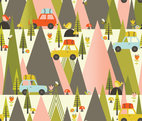 Road Trippin' fabric by oliveandruby on Spoonflower - custom fabric