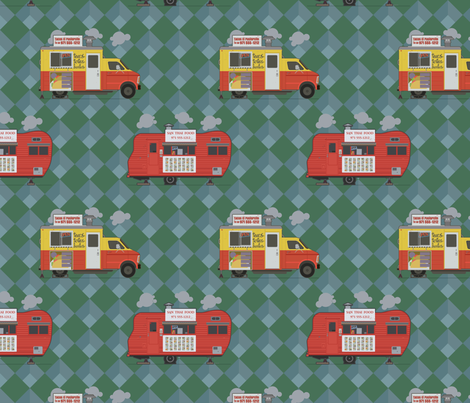 Portland Food Carts fabric by nipples_of_venus on Spoonflower - custom fabric