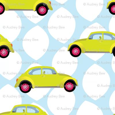 little yellow cars