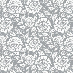 Lace with roses (gray)