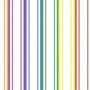 Split Rainbow Mattress Ticking Wide Stripes Pattern