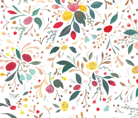 WhiteGarden-Pattern-Large fabric by b__woolf on Spoonflower - custom fabric