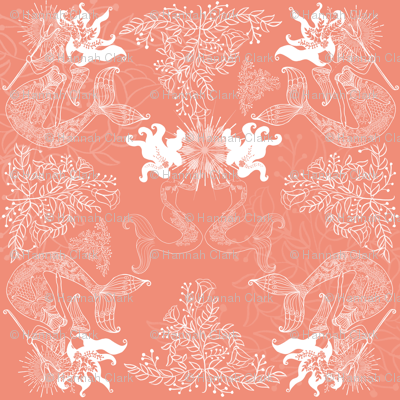 Rbluewillow_mermaids_coral_fabric_preview