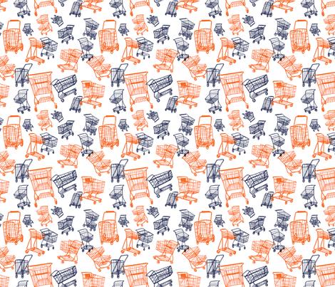 4-wheelin' groceries fabric by judith_dollar on Spoonflower - custom fabric