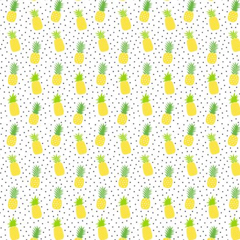 tiny pineapples plus crosses + yellow :: fruity fun fabric by misstiina on Spoonflower - custom fabric