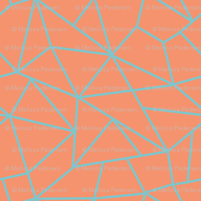 Crackled orange  geometric texture (small)