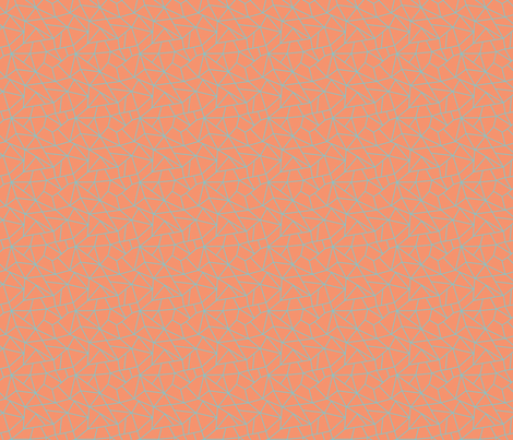 Crackled orange  geometric texture (small) fabric by new_branch_studio on Spoonflower - custom fabric