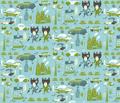 Look Both Ways fabric by skbird on Spoonflower - custom fabric