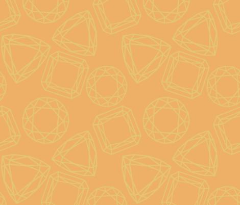 Orange gemstones (large) fabric by new_branch_studio on Spoonflower - custom fabric