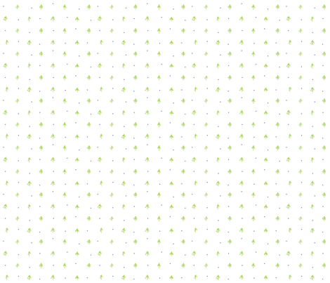 Tiny Trees fabric by outside_the_line on Spoonflower - custom fabric