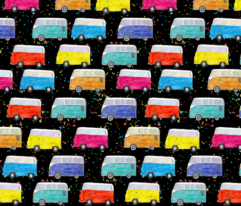 VW Traffic Jam fabric by chipper_and_perk on Spoonflower - custom fabric