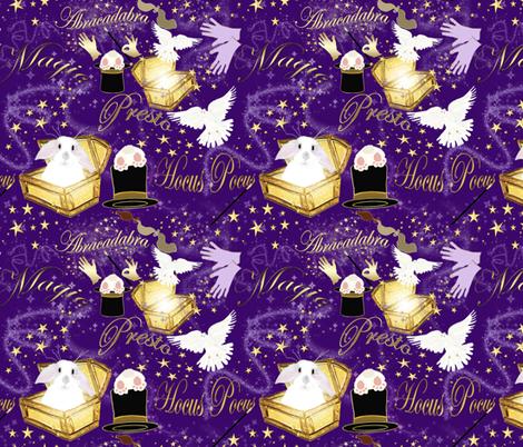 MAGIC  WORDS fabric by bluevelvet on Spoonflower - custom fabric