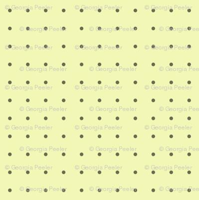 polka dots on yellow