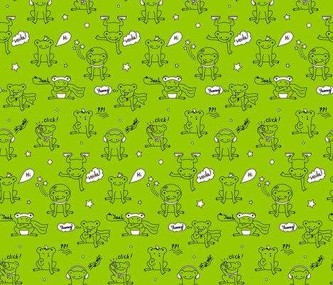 ranas-02 fabric by olkita on Spoonflower - custom fabric