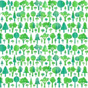 Green trees - smaller scale