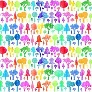 Rainbow Trees - smaller scale