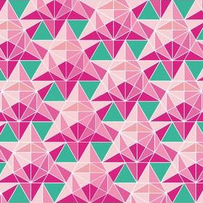 Maths Star Tile in pink