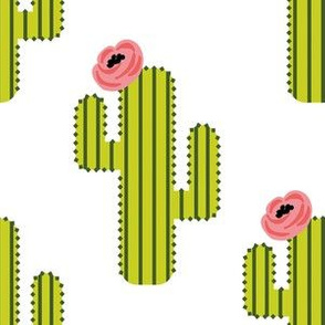 """6"""" Fiesta Cactus - White"""