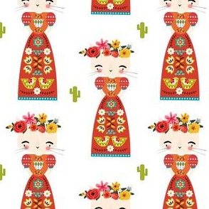 """4"""" Kitty Kahlo - White"""