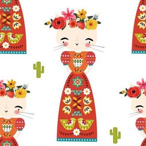 """8"""" Kitty Kahlo - White"""