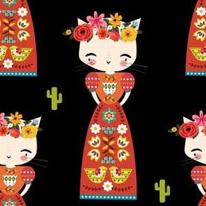 "6"" Kitty Kahlo - Black"