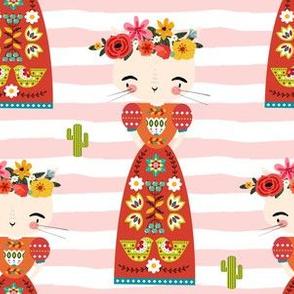 "6"" Kitty Kahlo - Pink Stripes"