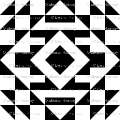 Kilim Bold Black and White