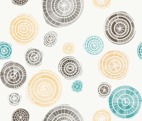 Concentric Cirles C fabric by dandd_designs on Spoonflower - custom fabric
