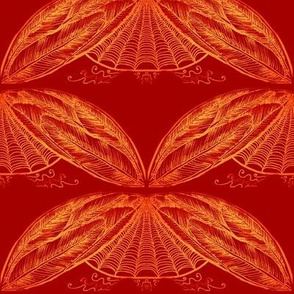 Fiery feathering -1/2mirrored-red-