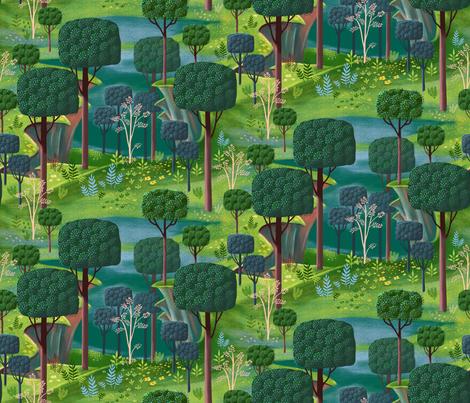 Emerald Forest Fantasy fabric by vinpauld on Spoonflower - custom fabric