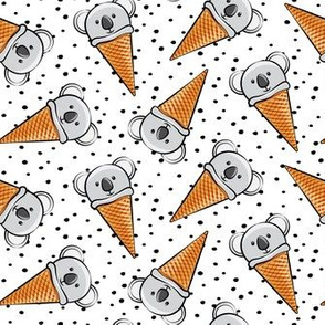 koala icecream cones - black dots