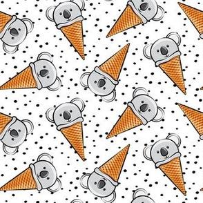 koala icecream cones - black dots