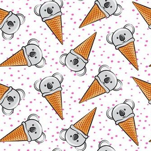 koala icecream cones - pink dots