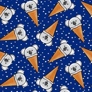 koala icecream cones - blue with dots