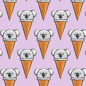 koala icecream cones - purple