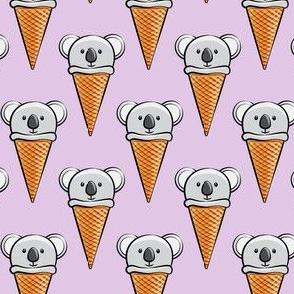 koala icecream cones - purple