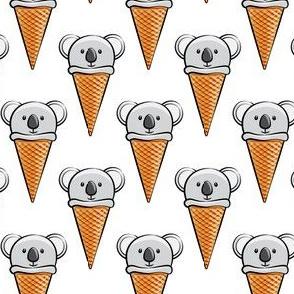 koala icecream cones - white