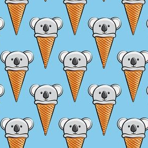 koala icecream cones - blue
