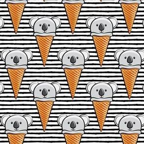 koala icecream cones - black stripes
