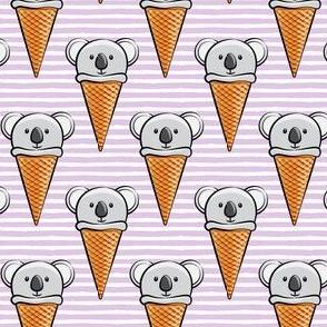 koala icecream cones - purple stripes