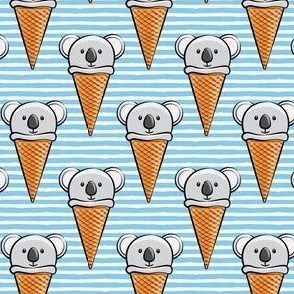koala icecream cones - blue stripes