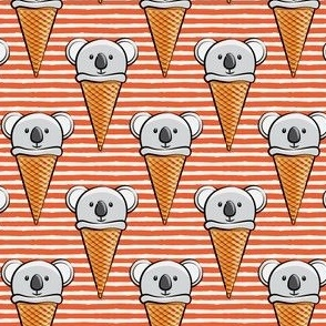 koala icecream cones - stripes