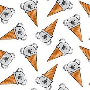 koala icecream cones - toss on white