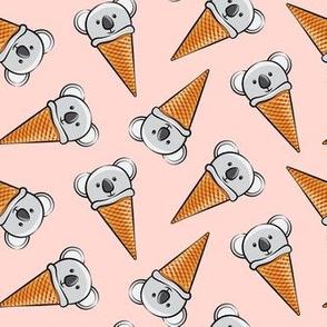 koala icecream cones - toss on pink