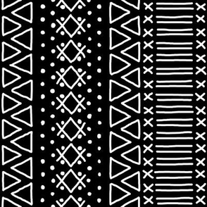White on Black Mudcloth Inspired 8