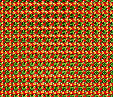 Halloween candy corn red  fabric by victoriapittman on Spoonflower - custom fabric