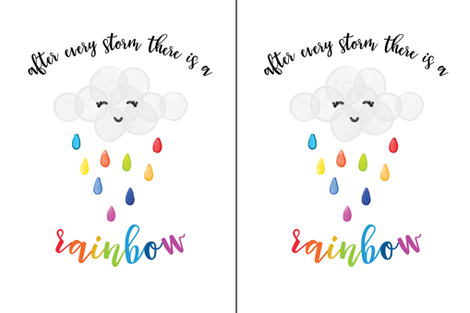 after every storm there is a rainbow // 2 per yard of minky fabric by ivieclothco on Spoonflower - custom fabric