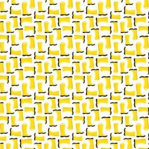 (micro scale) rain boots - yellow C18BS